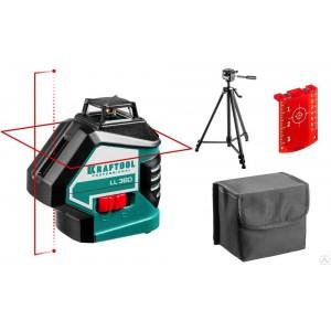 Нивелир лазерный KRAFTOOL LL360, штатив, 34645-3