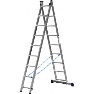 Лестница-трансформер СИБИН двухсекционная  9ступеней