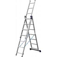 Лестница-трансформер СИБИН трехсекционная со стабилизатором ,7 ступеней