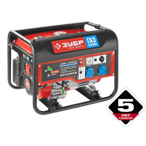 Генератор ЗУБР ЗЭСГ-2200-М2 бензин-газ